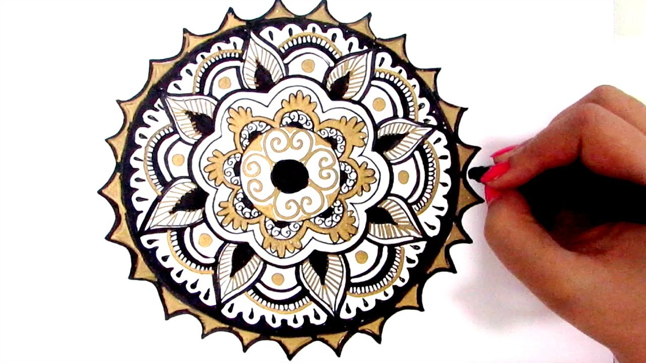 How To Draw Mandala Beginners Guide Youtube