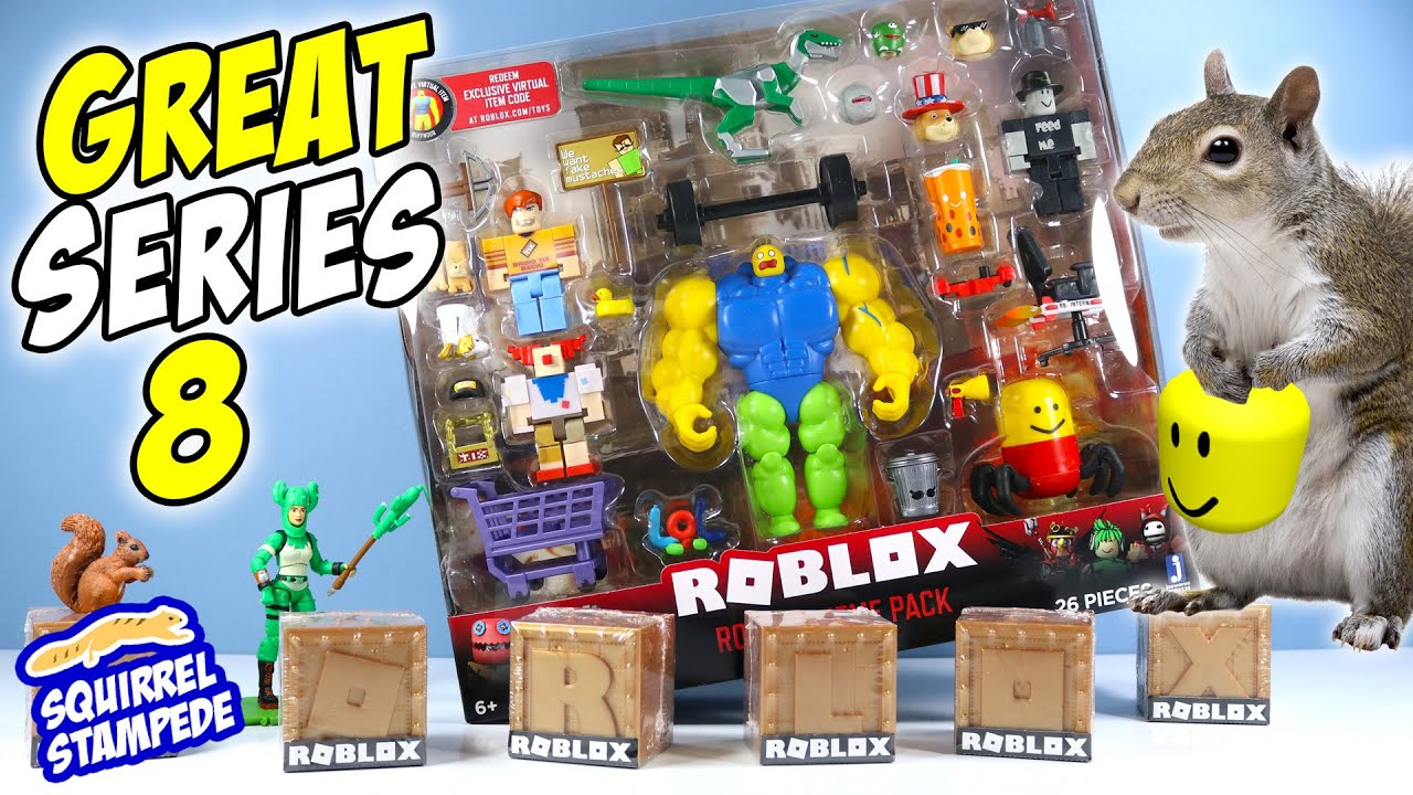 Lego Robot Roblox Noob Roblox Series 8 Mystery Boxes And Meme Pack S Mega Noob Jazwares Youtube