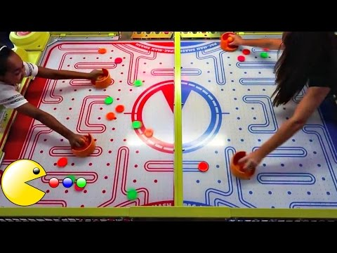Thumbnail: Family Challenges! Pacman Maze - Arcade Machines - Basketball - Bowling - Toys AndMe