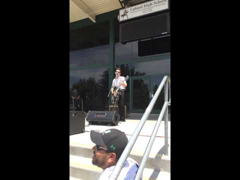 Drake Bell's Performance at Upland High School
