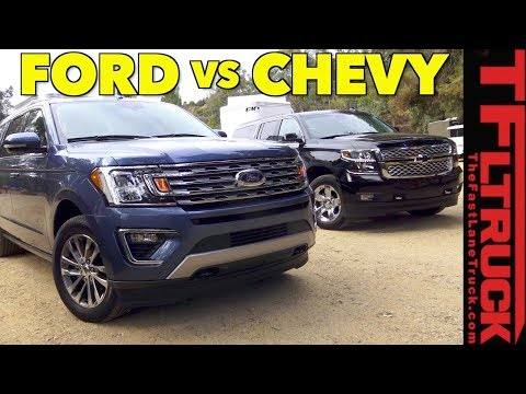 Big Boy Towing Wars! 2018 Ford Expedition vs Chevy Suburban