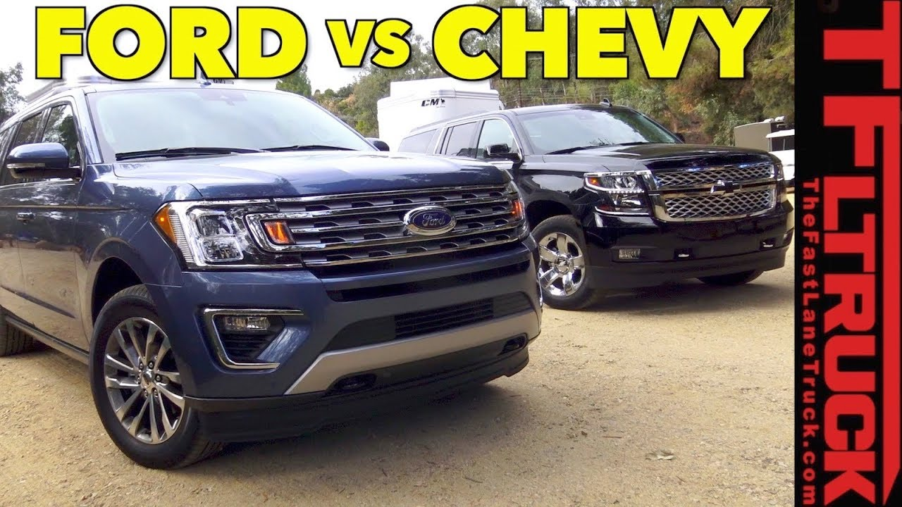 Big Boy Towing Wars 2018 Ford Expedition Vs Chevy Suburban Youtube