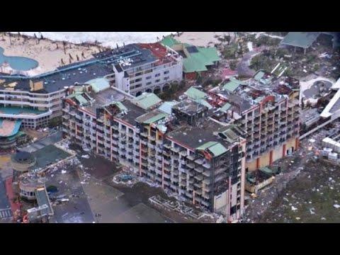 Heli filmt ravage Sint-Maarten