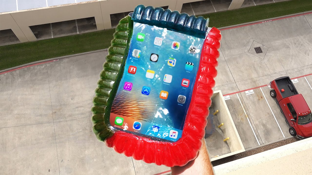 Can Worlds Largest Gummy Worm Protect IPad Air From 100 FT Drop Test