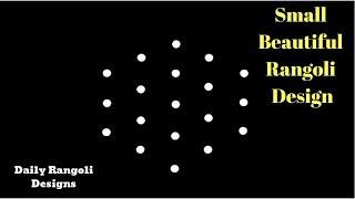 Simple Daily kolam 5X3 dots | Diwali Rang Rangoli  | Simple easy Kolam Small Deepam Muggulu #1314