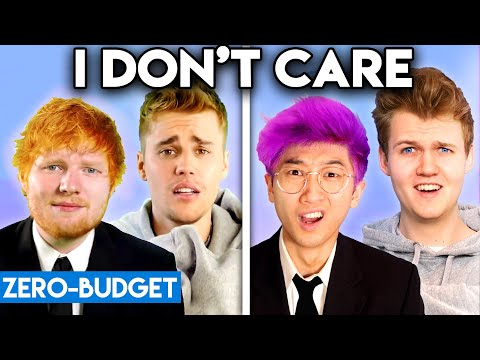 JUSTIN BIEBER & ED SHEERAN WITH ZERO BUDGET I Don&39;t Care
