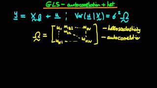 GLS estimators in the presence of autocorrelation and heteroscedasticity in matrix form