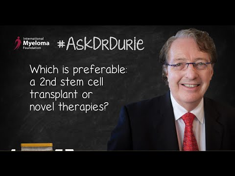Which is preferable: a 2nd stem cell transplant or novel therapies?