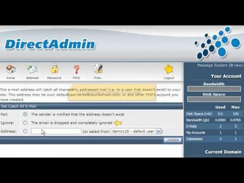 Een catch-all e-mailadres aanmaken in Direct Admin