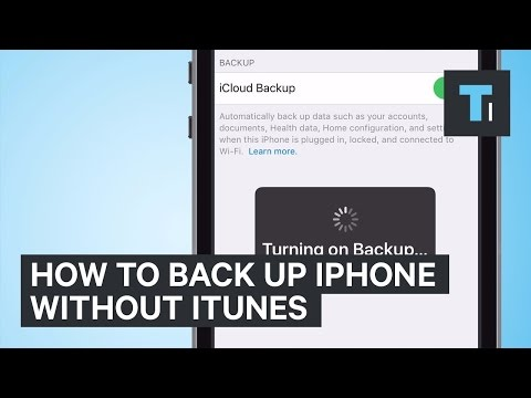 How To Back Up iPhone Without iTunes - YouTube