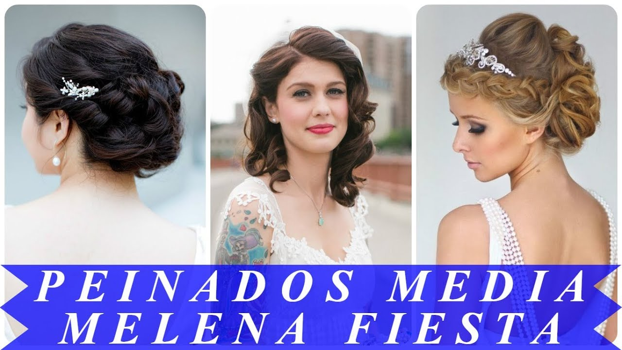 Peinados Modernos De Boda Media Melena 2018 Youtube
