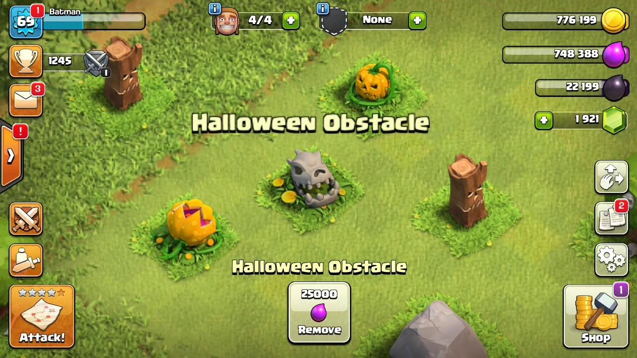 �ào Chướng Ngại Vật Halloween Có �ược 1000 Gem? Clash Of Clans (39)