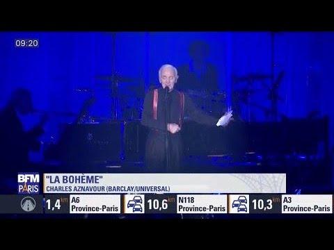 Revivez les grands moments du concert de Charles Aznavour à Bercy