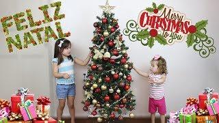 MONTEI A ÁRVORE DE NATAL COM MINHA - DECORATING THE WORLDS BIGGEST CHRISTMAS TREE clubinho da laura