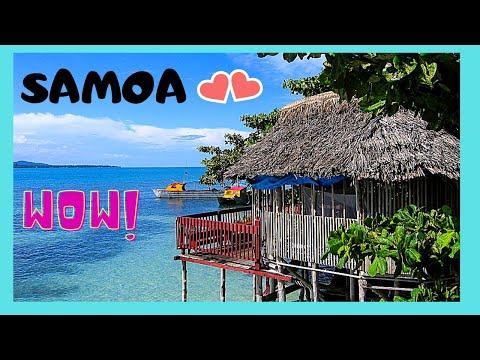 SAMOA, my BEACH BUNGALOW (fale) ON STILTS, island of SAVAI'I