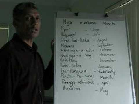 Maori Language Lessons - months