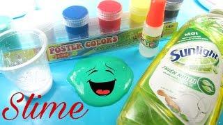 Cách làm Slime đơn giản từ nước rửa chén và muối / how to make Slime / Ami Channel