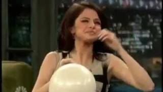 Selena Gomez on Helium (Late Night with Jimmy Fallon)