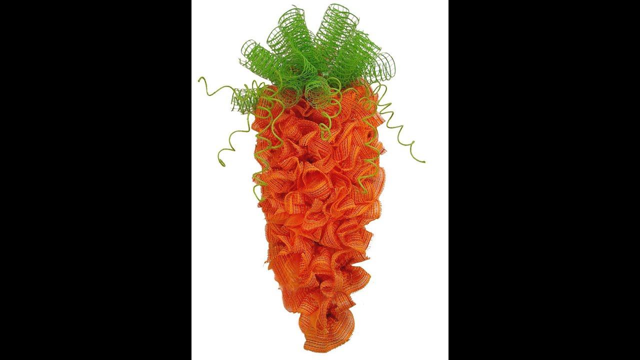 Carrot Wreath Tutorial By Trendy Tree Youtube