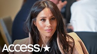 Meghan Markle Flies Solo & Shows Off Her Baby Bump At Surprise College Campus Appearance