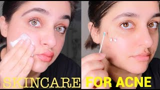 MY ACNE SKINCARE ROUTINE l Removes Acne/pimples/blemishes l Beginner Friendly Skincare Routine