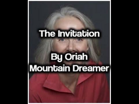 The Invitation By Oriah Mountain Dreamer Youtube