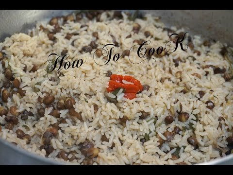 HOW TO MAKE REAL JAMAICAN RICE AND PEAS GUNGO GREEN PIGEON PEAS RECIPE VOL 2