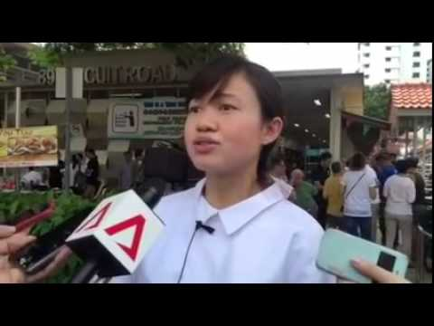 MP Tin Pei Ling giving an interview very pregnant