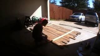Reclaimed Wood Headboard - Timelapse