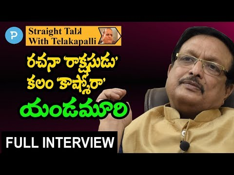 Writer, Director Dr.Yandamuri Veerendranath Exclusive Interview | Straight Talk with Telakapalli