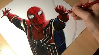 """Drawing Spider-Man from """"Infinity War"""""""
