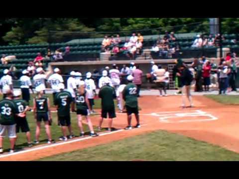 Celebrity Softball game @ Big Train Park 5-20-12 Athletes vs. Media Washington Redskins
