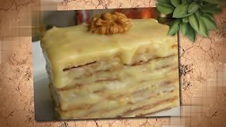 Готовим слоеное пирожное со сгущенкой. Вкусный рецепт пирожного. Приготовь Сам десерт, легко!