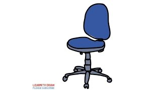 How To Draw a Office Chairs Step By Step For Kids