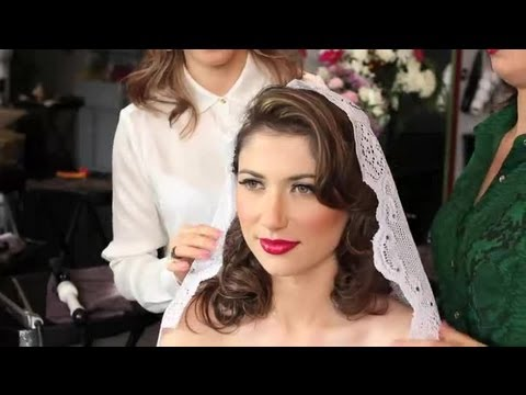 Wedding Hairstyles With A Lace Veil Edge Wedding Hairstyles Youtube