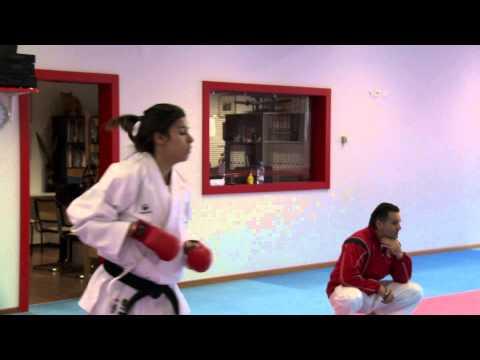 Iliana Bartolotta et Gaëtan Délétroz du Karaté Club Valais aux Mondiaux juniors en Espagne