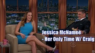 Jessica McNamee - Wears A Beautiful Dress - Her Only Time With Craig Ferguson