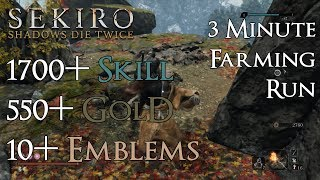 Sekiro: Shadows Die Twice - Best Late Game Farming! Gold, Skill, & Spirit Emblems