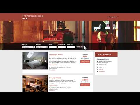 Hotel Direct Bookings: TheBookingButton By SiteMinder Demo Video