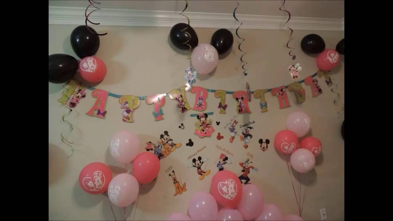 Minnie Mouse Birthday Party Easy Ideas YouTube