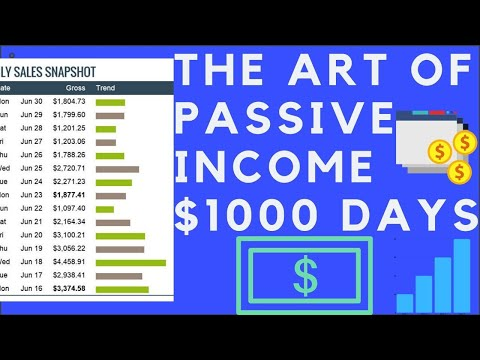 Passive Income Strategy $1000 Dollar Days🔠(how to make money online)2019