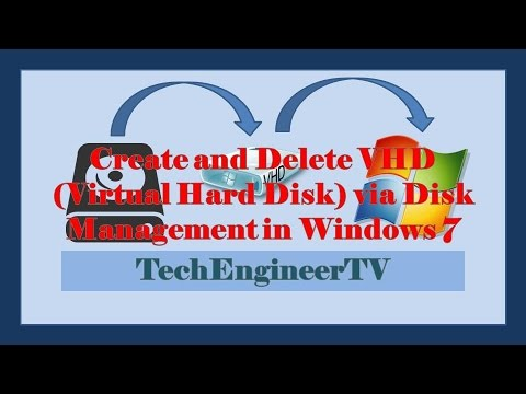 how to create virtual hard disk in windows 7