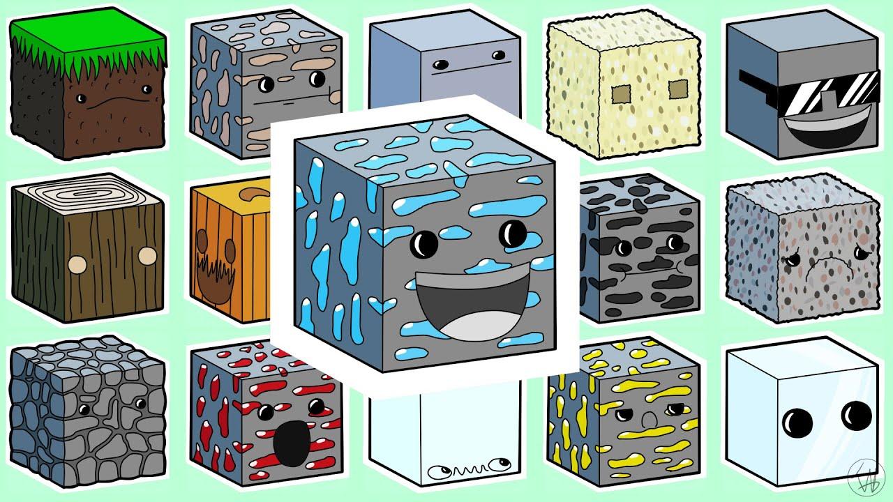 Блоки из майнкрафта картинки с названиями