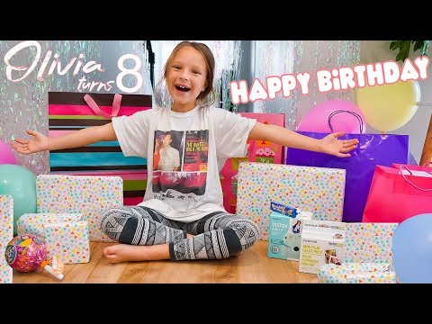8 YEAR OLD OPENING BIRTHDAY PRESENTS! 🎁 Olivia's Birthday Special
