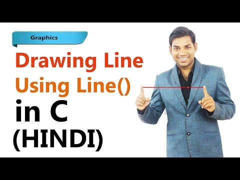 Graphics - Program to  Draw Line in C (HINDI)