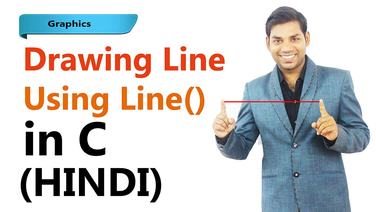 Implement Dda Line Drawing Algorithm Using C Language : Learn c in hindi graphics program to draw line