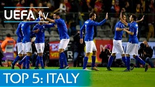 Top 5 Italy EURO 2016 qualifying goals: Pellè, Candreva and more