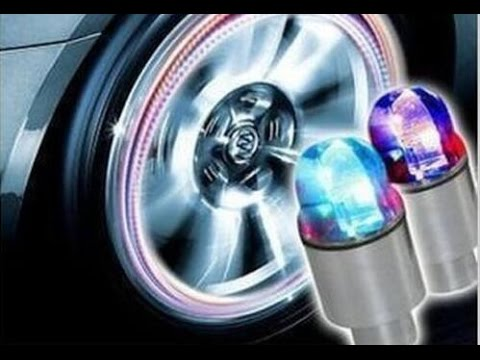 Colorful Growing Bike Car Tyre Valve Caps Led Bicycle Wheel Tire Light Xie Sheng Youtube