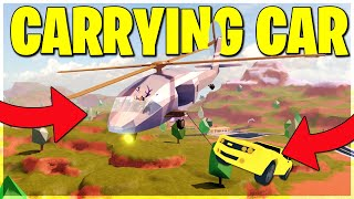 ROBLOX JAILBREAK CARRYING CAR GLITCH! CARRY 13 PEOPLE IN A VEHICLE! (ROBLOX)