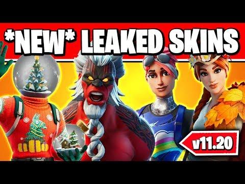 *NEW* Fortnite CHRISTMAS *LEAKED* SKINS & EMOTES V11.20 (ALL NEW SKINS & EVENT)